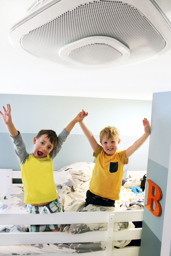 Keep the kids safe and have more fun with a 3-in-1 smart fire alarm, carbon monoxide detector, and Alexa-enabled home speaker. It even has a built in nightlight.