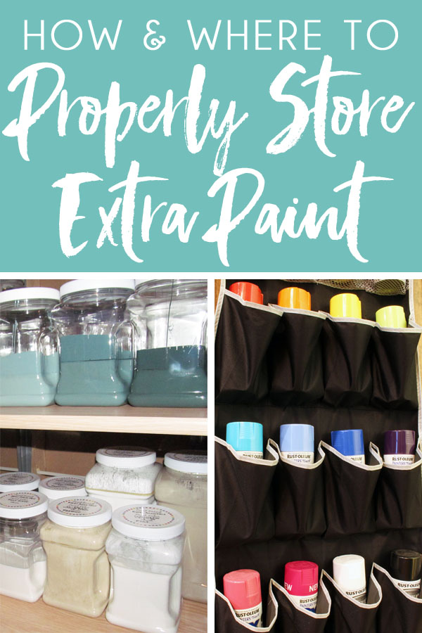 How to store paint leftover paint so it doesn't go bad and where to safely store latex paint, oil based paint, and spray paint cans. Answer to questions common questions, like, can you store leftover paint in a plastic container, can you store paint outside, and can you store paint near a hot water heater.