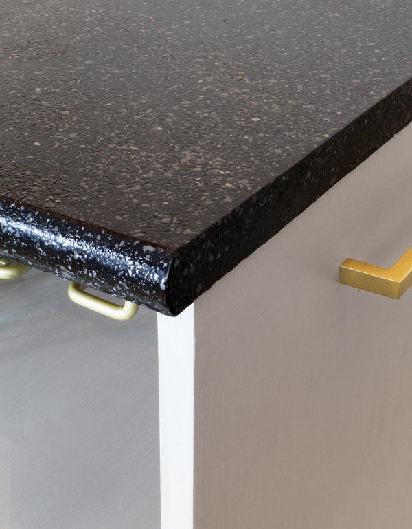 DIY granite look countertops using paint