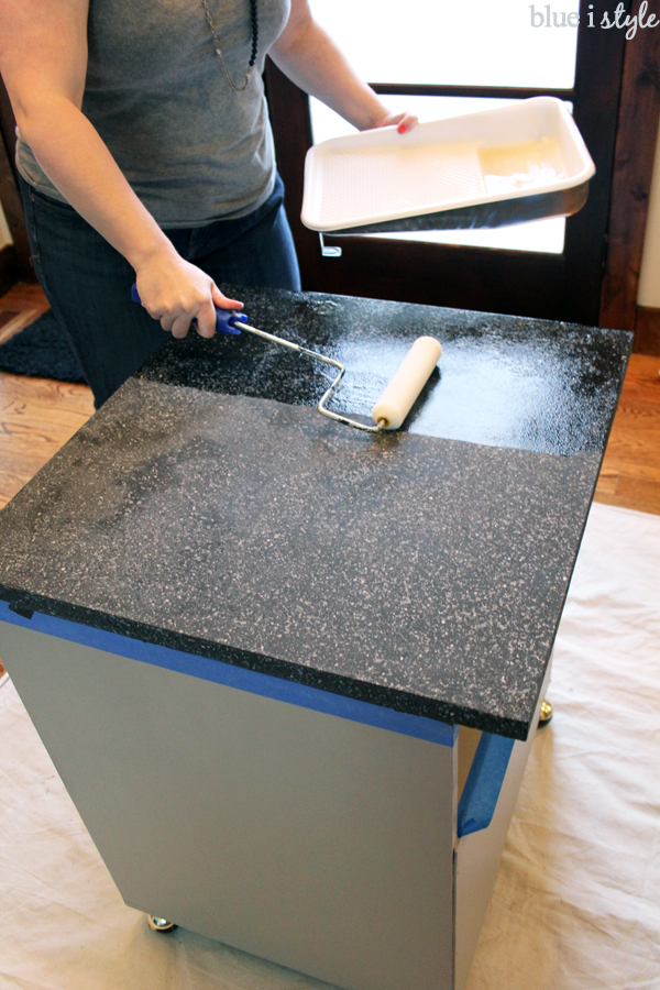 Update Laminate Countertops With Paint Using Rustoleum Countertop Transformations Blue I Style