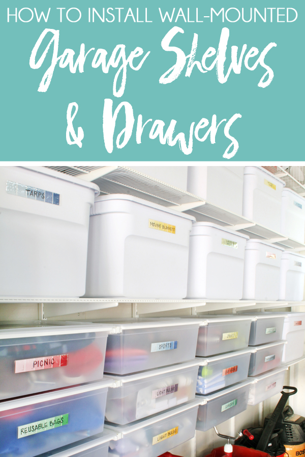 The Container Store Elfa Organize Garage Shelving and Drawers