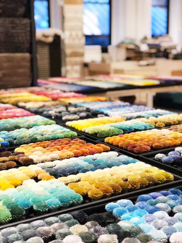 """Custom rug design """"Design Lab"""" at ABC Carpet & Home in NYC"""