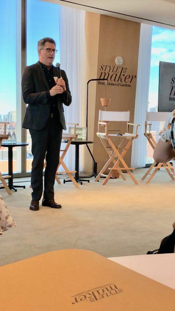 Stephen Orr BHG Editor at Stylemaker Event 2018