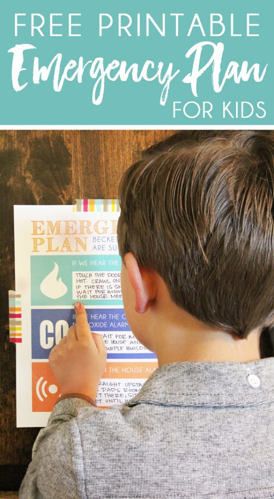 Create a fire safety plan for kids using this printable emergency plan template
