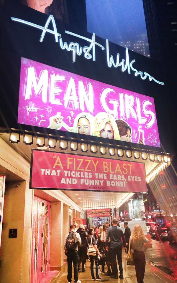 Mean Girls on Broadway at the August Wilson Theater