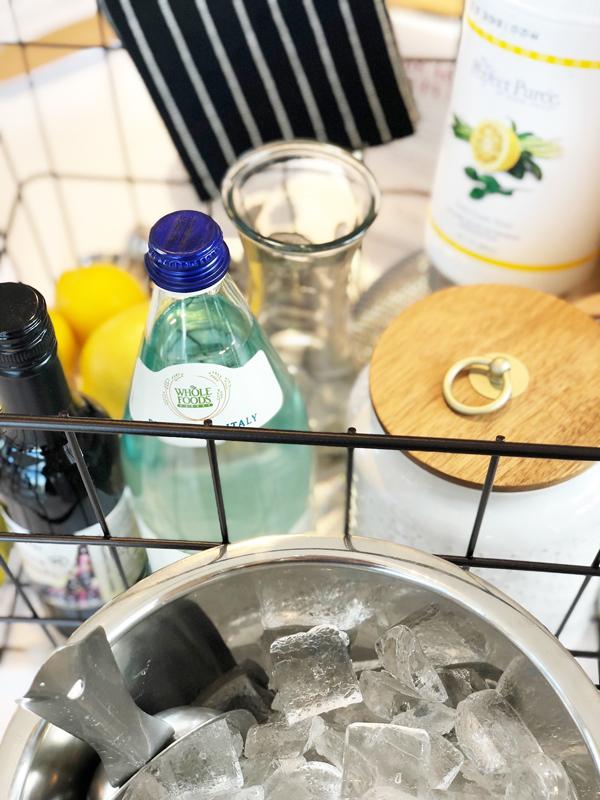 Ingredients for Yuzu Sumac cocktail