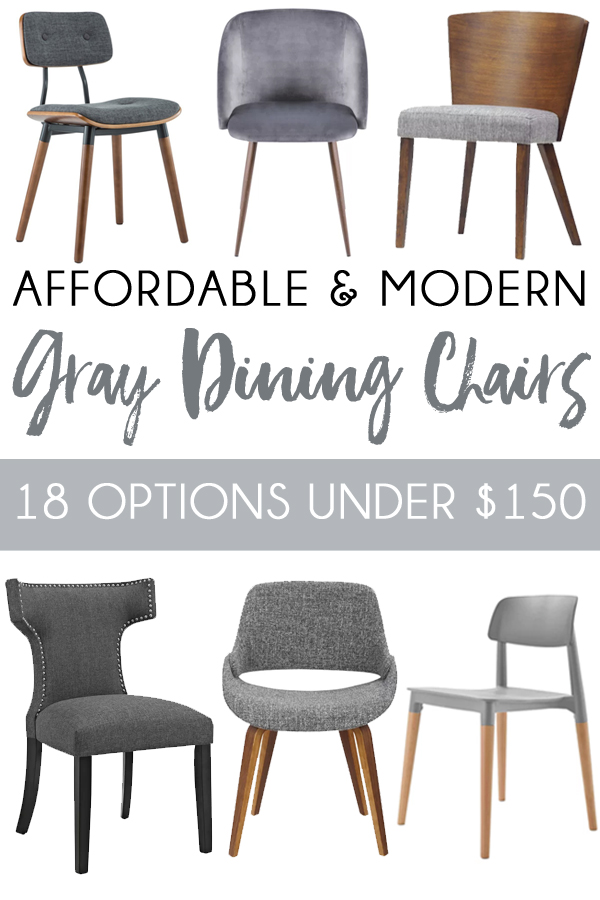 Inexpensive Grey Dining Chairs