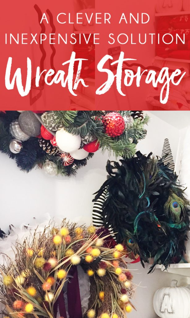 Wreath Storage Ideas including wreath storage hangers