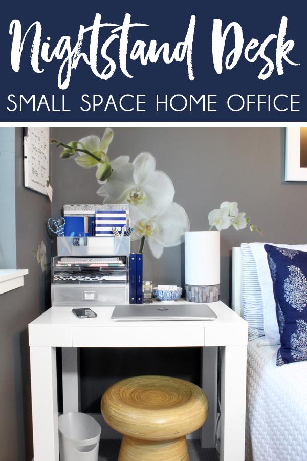 Bedroom Office Ideas Nightstand Doubles as Desk