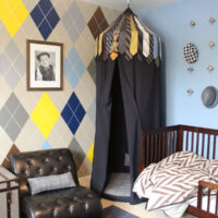Menswear Themed Toddler Bedroom