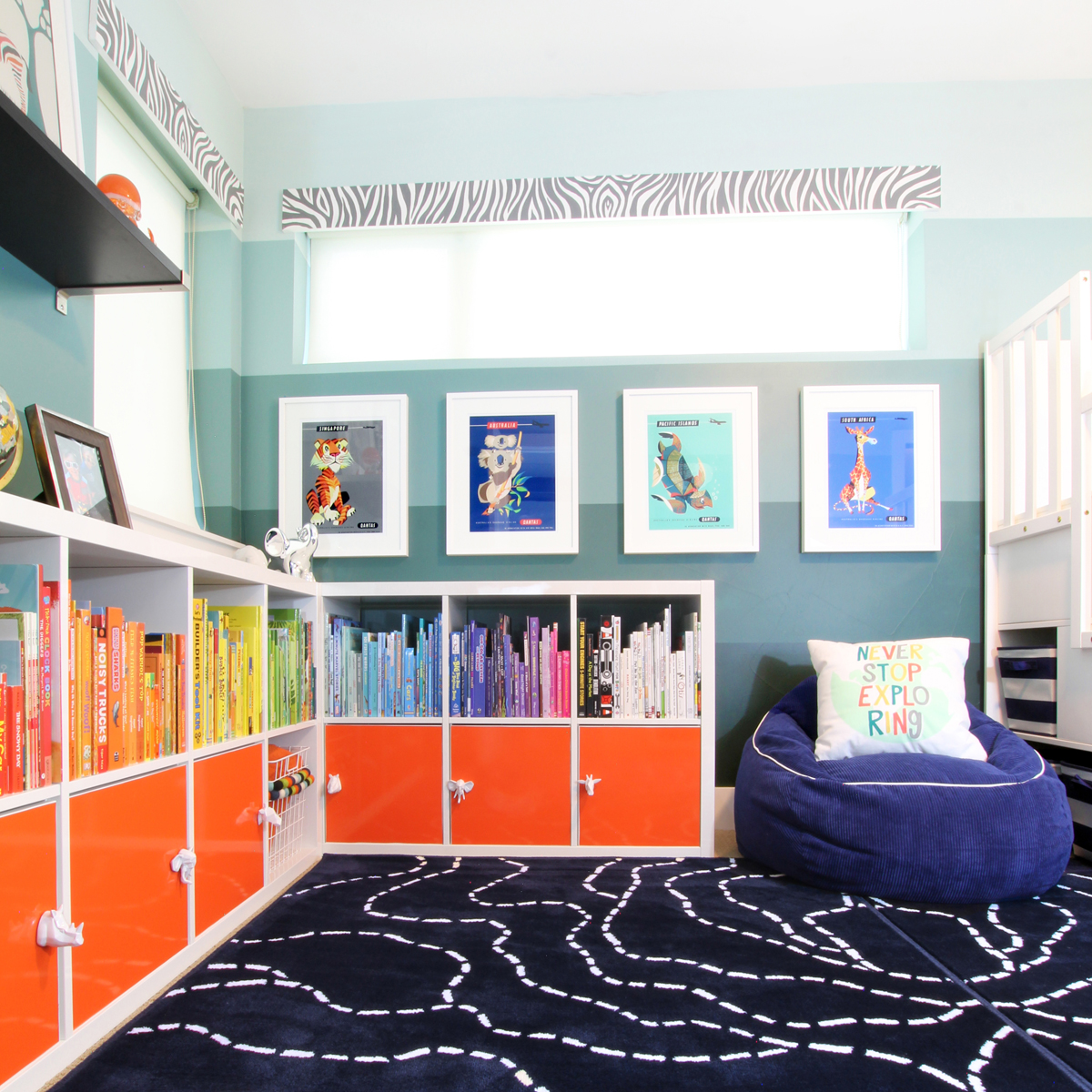 A Small Shared Boys' Room with Bunk Beds