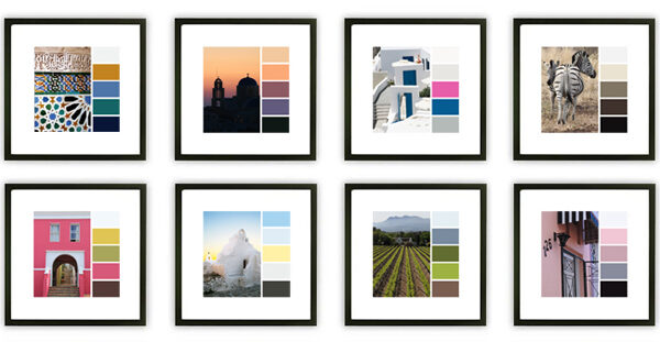 travel inspired color palette office decor
