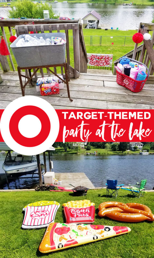 Target-themed pool party