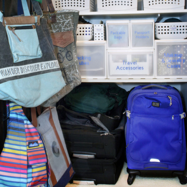 Tips for organizing travel gear, organize luggage, organize tote bags