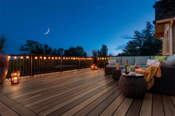 mix multiple colors of deck boards