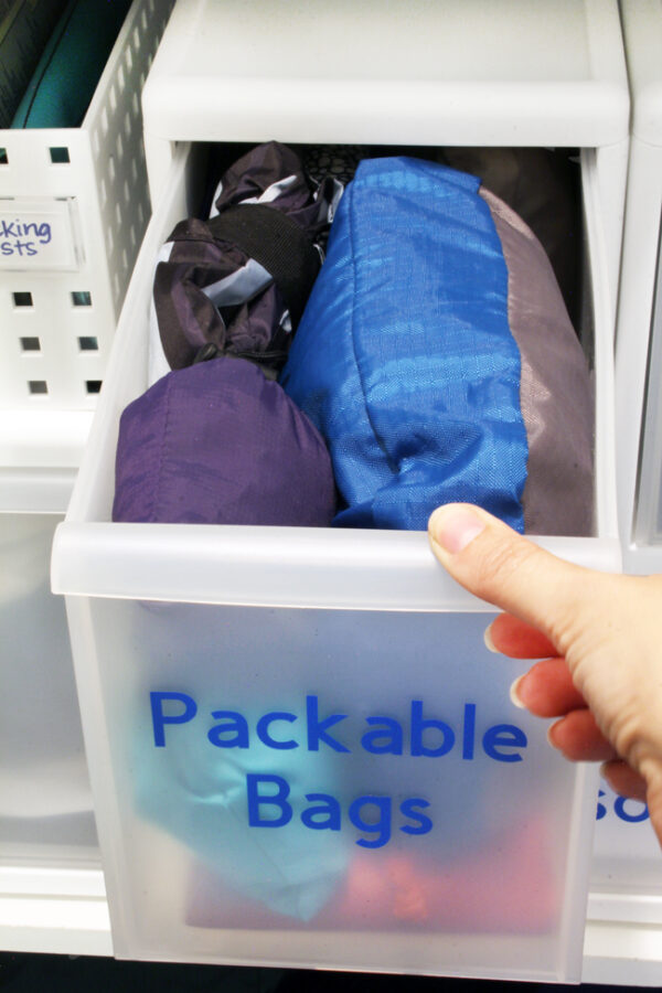Organize packable bags and packable backpacks
