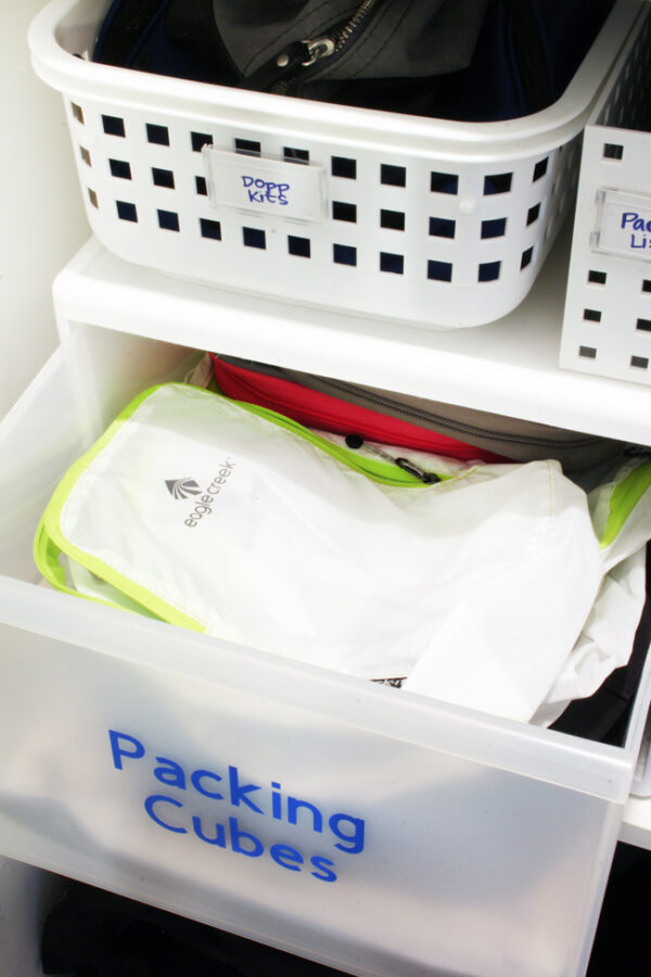 How to organize packing cubes
