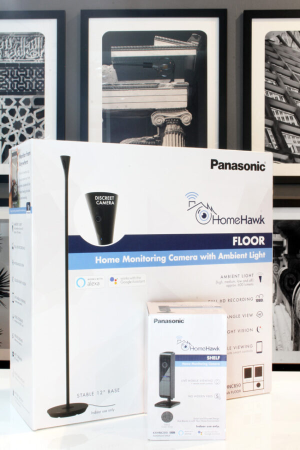 Panasonic HomeHawk FLOOR home security camera SHELF