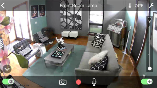 Smart home security camera footage