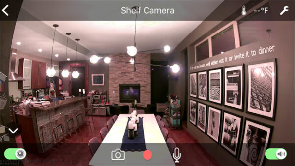 security camera footage of kitchen