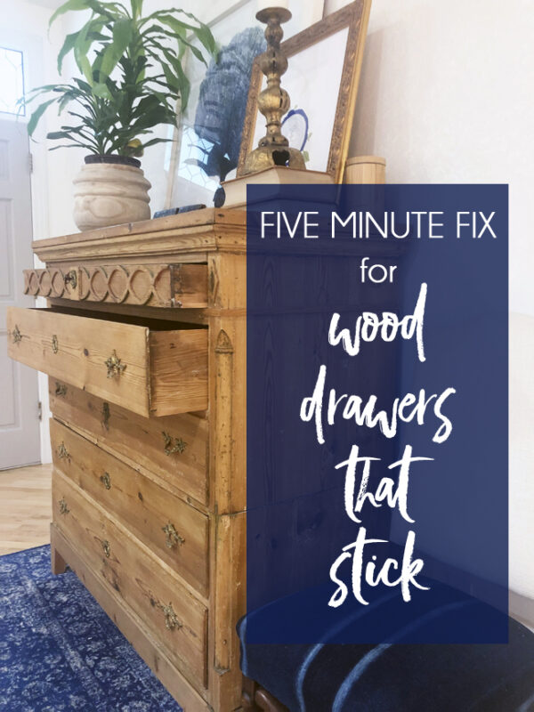 wood drawer sticking slide easily