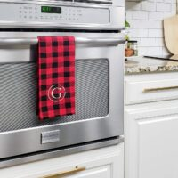 Monogram Dish Towels