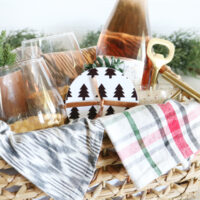 Black & White Modern Christmas Coasters