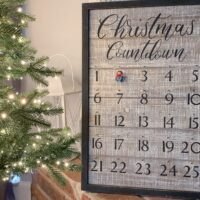 Framed Wooden Advent Calendar