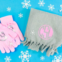 Monogrammed Scarf & Gloves Gift Set