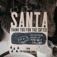 Treats for Santa Wood Chalkboard Sign