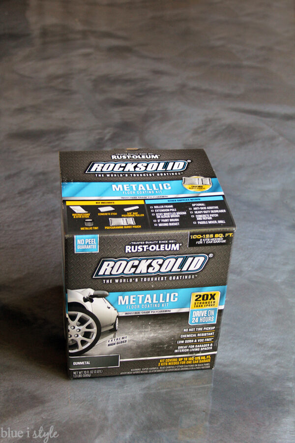 RockSolid Metallic Garage Floor Gunmetal