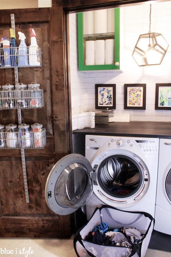 organize a small laundry closet