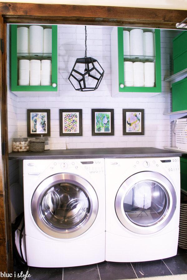 Laundry closet makeover