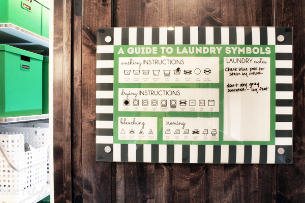 Printable Laundry Symbols Guide Memo Board