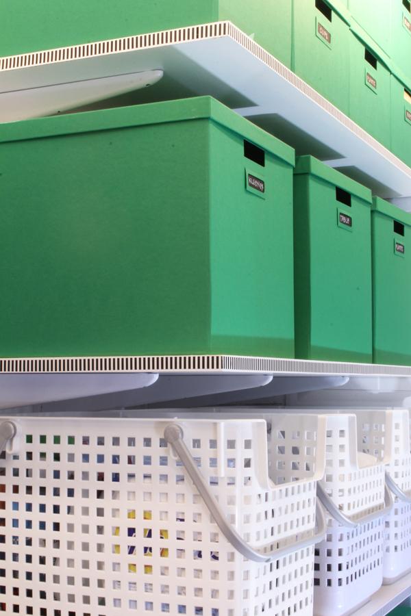Linen closet shelves