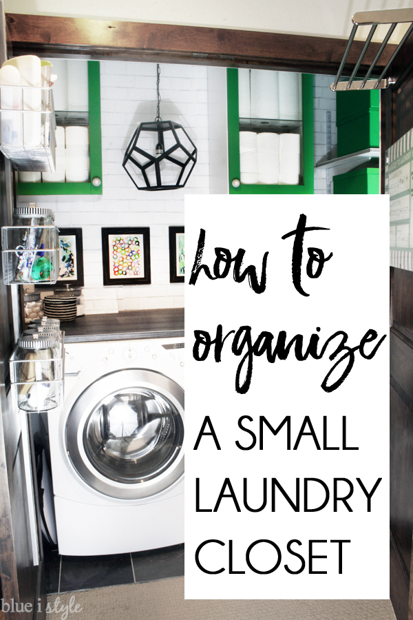 how to organize a laundry closet