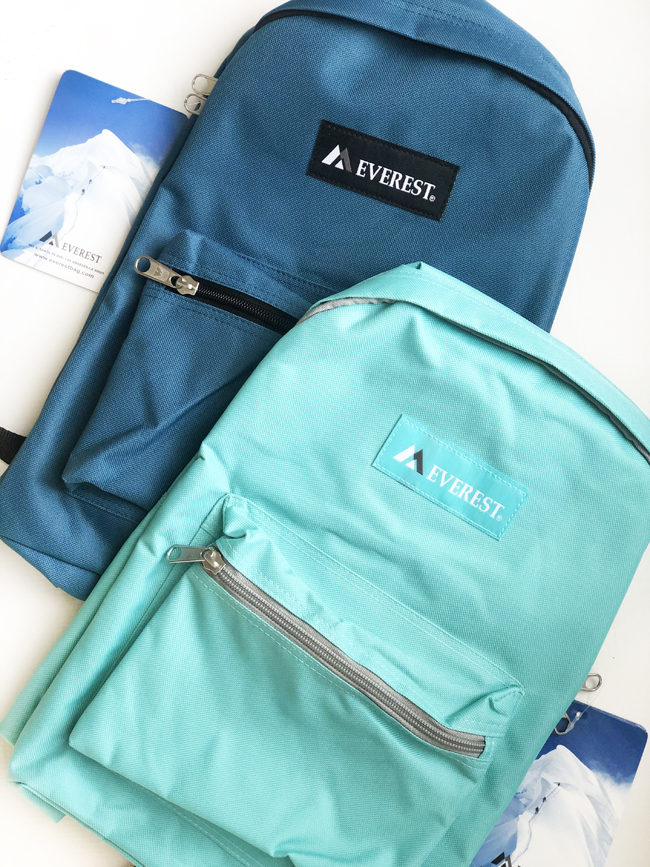 Everest brand backpacks