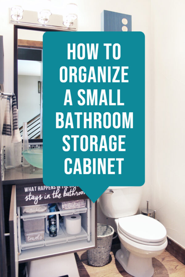 How to organize a small bathroom storage cabinet