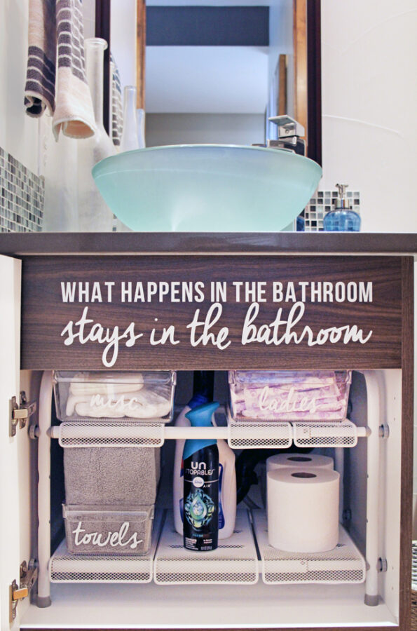 how to organize under bathroom sink with an adjustable under bathroom sink organizer