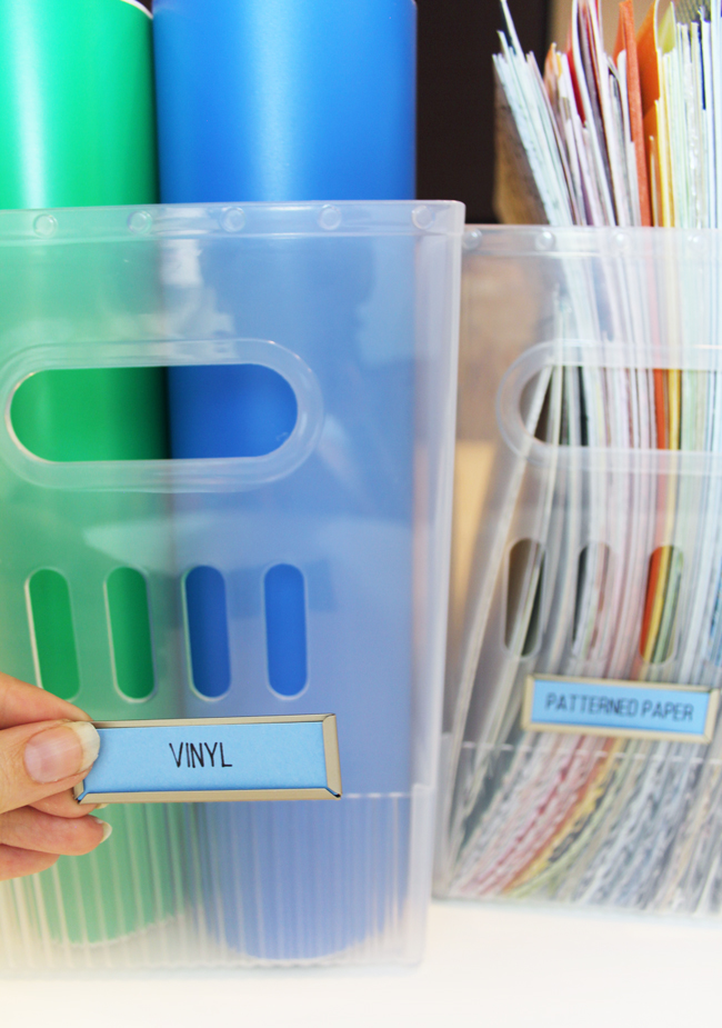 Bigso Labels on Magazine Holders
