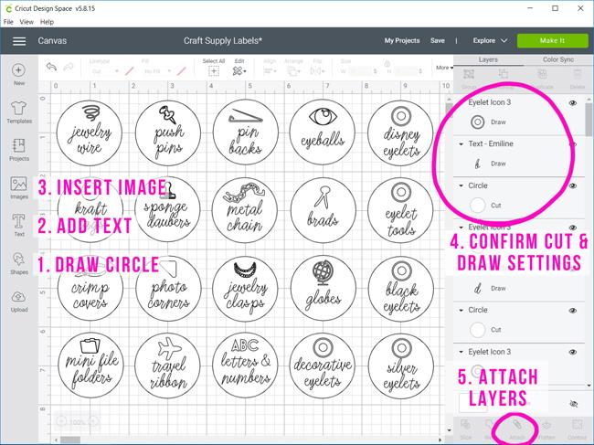 Designing Sticker Labels in Cricut Design Space