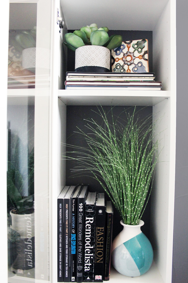 Ikea Billy Bookcase Hack with contrasting paint