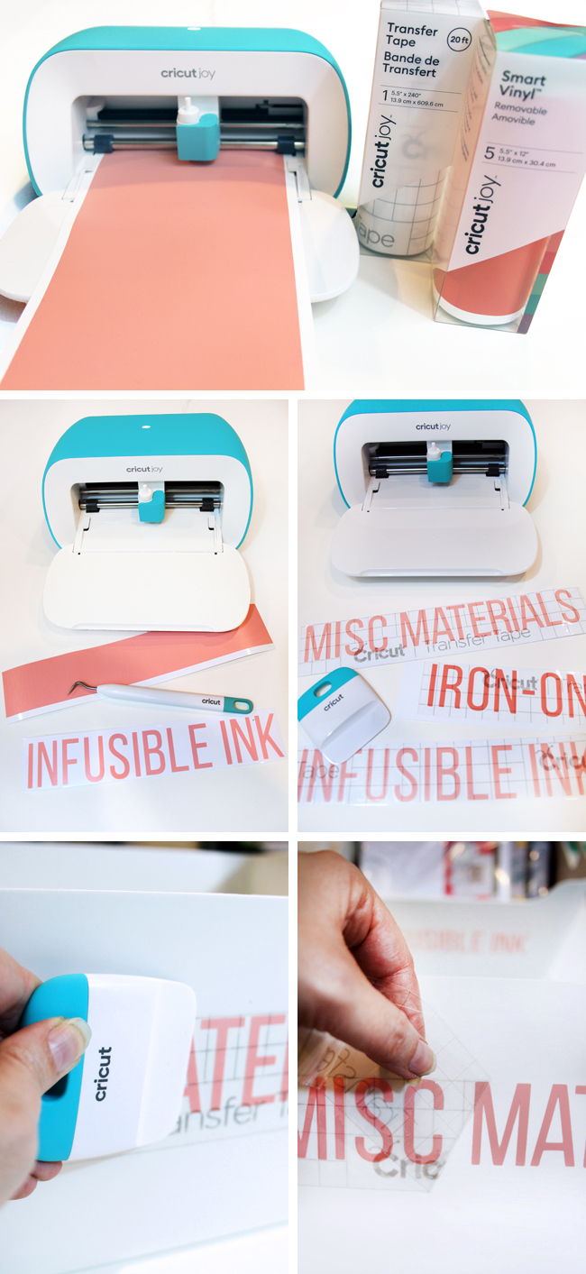 Step by step making vinyl labels using Cricut Joy