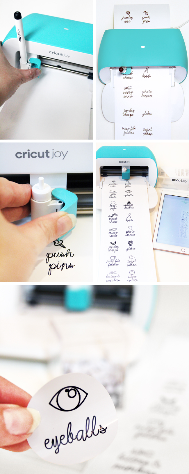 Step by Step Making Stickers with Cricut Joy Smart Label Writable Vinyl