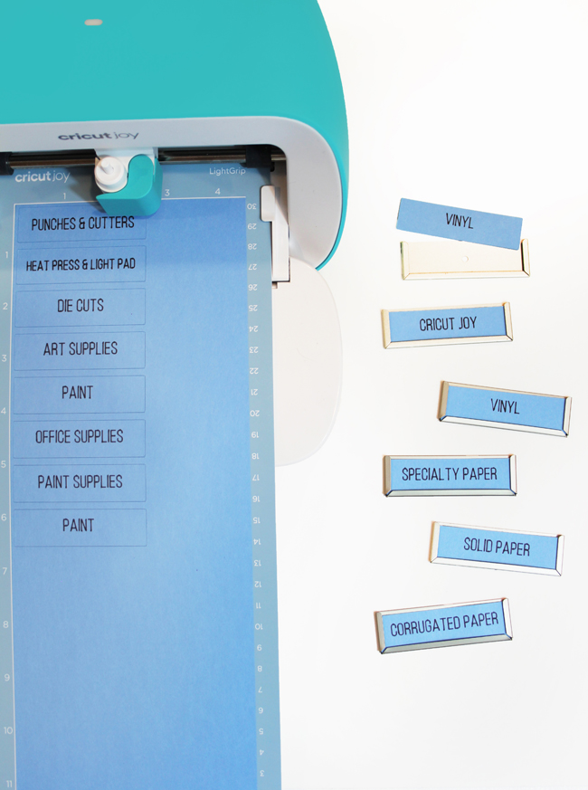 Cutting labels with Cricut Joy for Bigso adhesive label holders