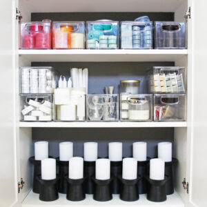 Organized Candle Storage Cabinet