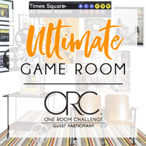 Game Room Design Plans for the One Room Challenge
